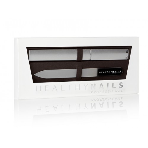 Healthy Nails Professional Crystal Nail File – Black (Medium)